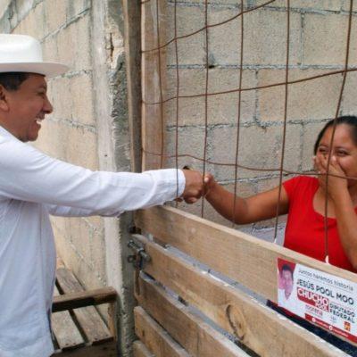 Desde Cuna Maya, en Solidaridad, Jesús Pool Moo promete dar certeza jurídica de la propiedad de la tierra a los asentamientos irregulares
