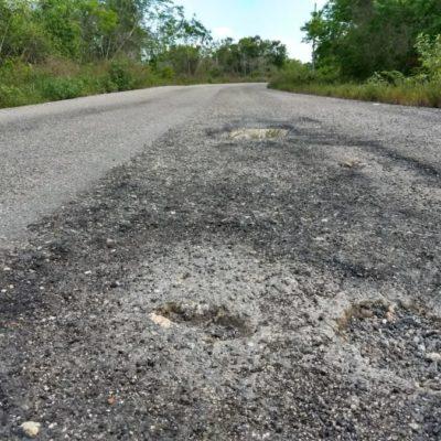 El camino intransitable hacia Hobompich desde X-Pichil