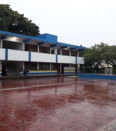 La lluvia causó 95% del ausentismo escolar en jardines de niños y primarias de Cozumel