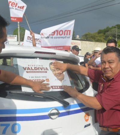 La rehabilitación de siete kilómetros de la carretera costera de Bacalar se convierte en la primer propuesta de campaña de Rivelino Valdivia Villaseca