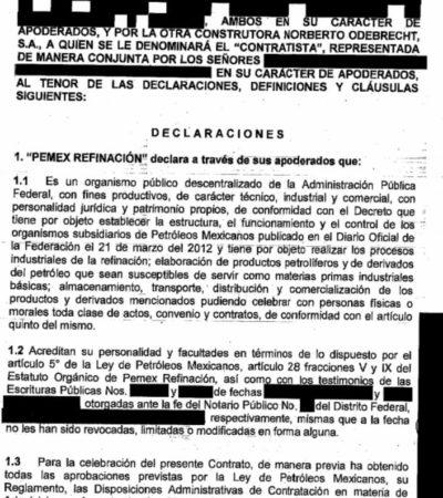 Se alternan sobornos de Odebrecht  y contrato millonario en Pemex