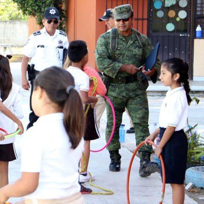 Protección Civil, Sedena y Marina supervisan los refugios temporales en BJ