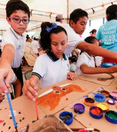 Principios de educación ambiental y separación de recursos son enseñados a estudiantes de primarias de Solidaridad