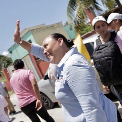Cristina Torres promete acabar con la deuda de Solidaridad