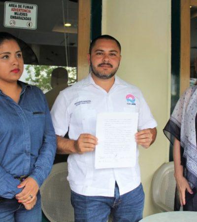 Issac Janix Alanís promueve convenio contra la trata de personas