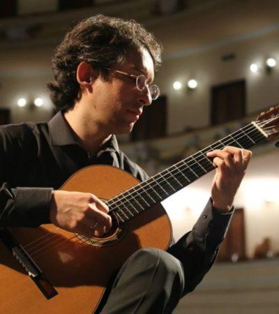 El multi galardonado guitarrista Pablo Garibay interpretará el Concierto de Aranjuez con la Orquesta Sinfónica de Yucatán en el teatro Peón Contreras de Mérida