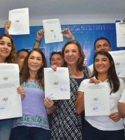 Candidatos de la  alianza 'Por Quintana Roo al Frente' acuerdan compromiso contra la trata