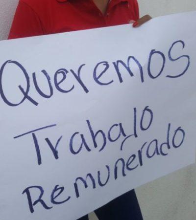 Cancelación de desfile por Día del Trabajo da combustible para ex precandidata para protestar por la falta de empleo bien remunerado y con tolerancia hacia las madres de familia