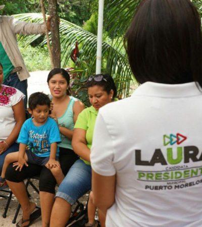 El campo portomorelense está dentro de las prioridades de Laura Fernández, asegura candidata en Leona Vicario