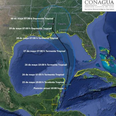 La tormenta subtropical 'Alberto' no representa mayor peligro para Quintana Roo