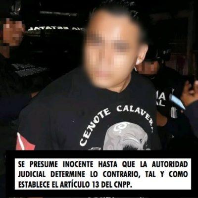 Con 10 bolsas de polvo blanco es detenida una persona en operativo 'Sellamiento Tulum'