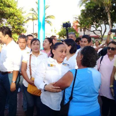 Cristina Torres inicia frente al mar Caribe, en el Parque Fundadores, su campaña por la reelección enfocada en la seguridad y en la atención social de las mujeres de Solidaridad
