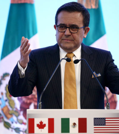 Dice Ildefonso Guajardo que hay 40% de probabilidades de cerrar el TLCAN antes del 1 de julio