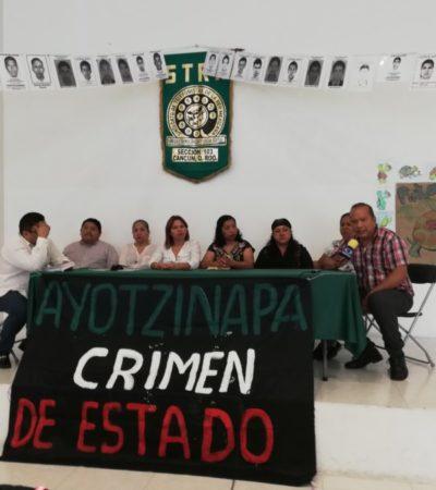 Padres y familiares de los 43 desaparecidos de Ayotzinapa llegan a Playa del Carmen el próximo sábado 19 de mayo