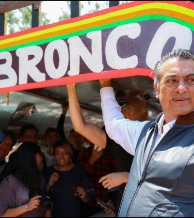 """""""Mi campaña la hacen los ciudadanos"""", dice 'El Bronco'"""