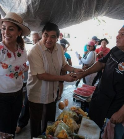 CAMPAÑA EN PLAYA: Recorre Marybel Villegas la Colosio con Laura Beristaín y el Ejido con 'Huicho' Domínguez
