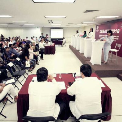 SE QUEDÓ A MEDIAS EL DEBATE DEL INE Y COPARMEX: No asisten 4 de los 10 candidatos invitados y exposiciones terminan a 'medio gas'