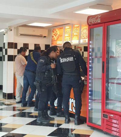 Roban pizzas y dinero en 'Little Caesar' de la Región 251 en Cancún