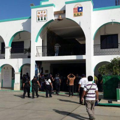 Policías de José María Morelos exigen pago del Fortaseg