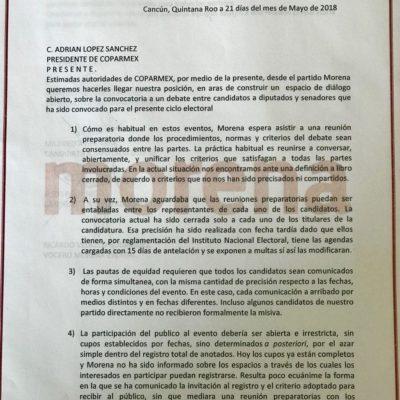 Rechazan candidatos al Senado y Cámara de Diputados de Morena participar en debate de Coparmex
