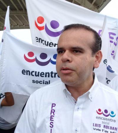 Campaña austera y certera ofrece Luis Roldán, el candidato del PES para Solidaridad
