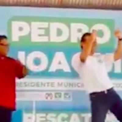 En el arranque de su campaña, Pedro Joaquín muestra sus dotes de bailarín… ¿al estilo Borge? | VIDEO