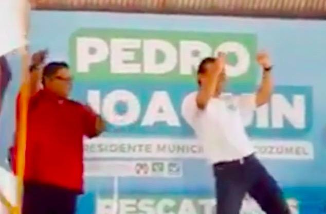 En el arranque de su campaña, Pedro Joaquín muestra sus dotes de bailarín… ¿al estilo Borge?   VIDEO