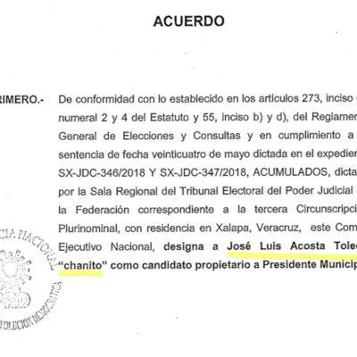 VA 'CHANITO' A LA BOLETA ELECTORAL: El candidato sustituto del 'Frente' en Cancún, el casi homónimo de José Luis Toledo, también tendrá su reconocido mote para abonar a la polémica