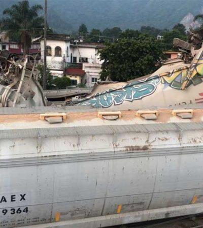 Dos trenes chocan de frente en Río Blanco, Veracruz; no se registraron pérdidas humanas