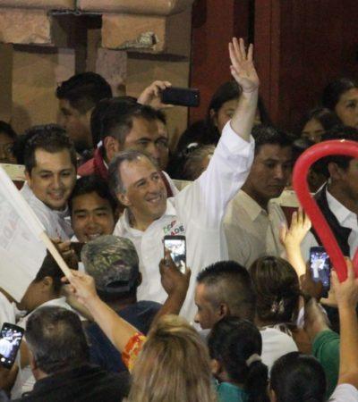 Arremete Meade contra la propuesta de amnistía de López Obrador desde la Plaza de Toros de Cancún
