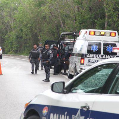 Hallan a hombre ejecutado en el kilómetro 27 de la Zona Hotelera de Cancún