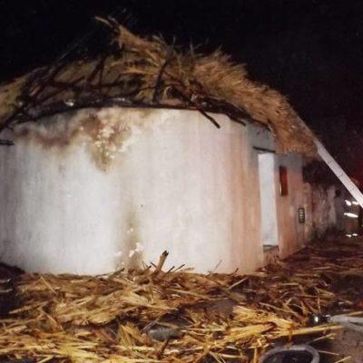 Fuego arrasa con humilde vivienda en Baca