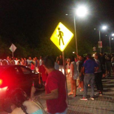 Cansados de inseguridad, vecinos de Galaxias del Carmen bloquean la Avenida 125 en protesta por violación de una joven