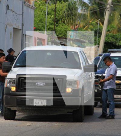 Interceptan policías camioneta con empistolados; resultaron elementos de una dependencia federal comisionados en Cancún