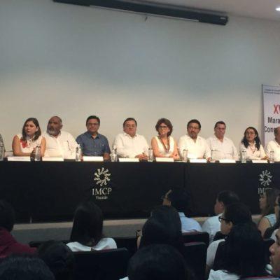 Estudiantes abren maratón de contaduría en Yucatán