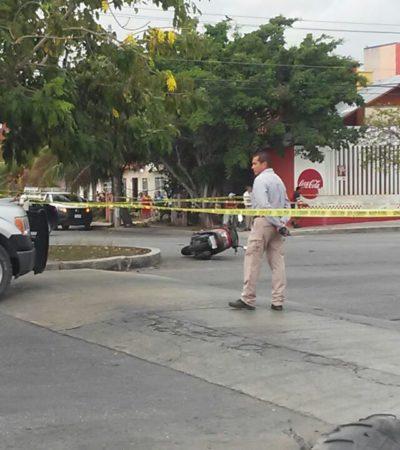 BALAZOS SOBRE LA AVENIDA CHAC MOOL: Enfrentamiento armado en la 224 deja un presunto sicario lesionado en Cancún