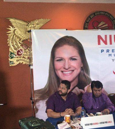 Acompañada de Gregorio Sánchez, Niurka inicia campaña por Cancún con conferencia de prensa