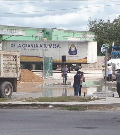 Aunque aún no tiene candidato oficial en BJ, iniciará el 'Frente' campaña con la acción de tapar el bache más grande de Cancún