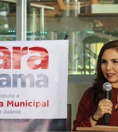 EMPIEZA 'MORENISTA' CON ACLARACIONES EN CANCÚN: Dice 'Mara' Lezama que es la candidata de AMLO, no de Carlos Joaquín
