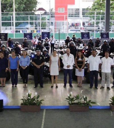 Entrega Ayuntamiento 25 nuevas unidades para reforzar seguridad en colonias de Playa del Carmen