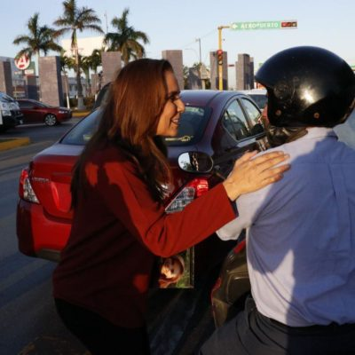Provoca Mara Lezama accidente vial durante entrega de volantes en Cancún