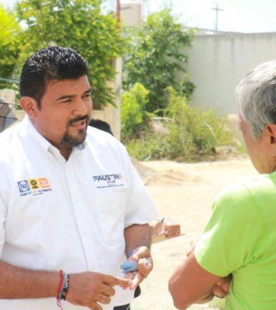 """Recorre Faustino Uicab colonia La Guadalupana y dice que """"la inseguridad está muy fea"""""""