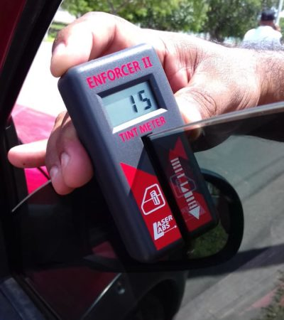 MANTIENEN OPERATIVO CONTRA POLARIZADOS: Pide Tránsito a automovilistas cumplir con reglamento que prohíbe cristales con más de dos humos