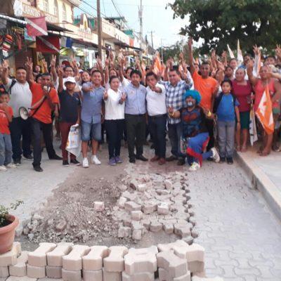 Comerciantes solicitan que concluyan obras del centro de Tulum