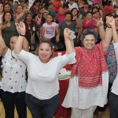 """No vengo a apoyar a ningún candidato que se sospeche que sea rata"", dice Beatriz Paredes al encabezar acto proselitista con candidatas priistas en Chetumal"