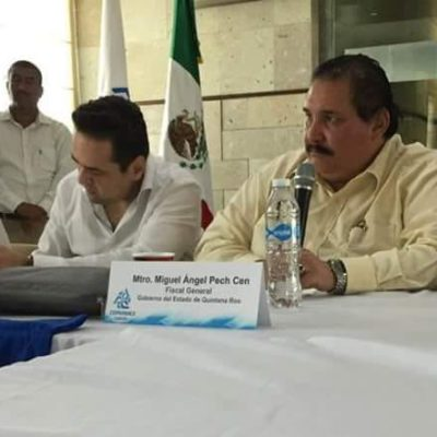 RINDE CUENTAS EL FISCAL… PERO ANTE EMPRESARIOS Y EN PRIVADO: Al exponer problemas de la corporación, dice Pech Cen a consejeros de la Coparmex que ha recibido amenazas de muerte