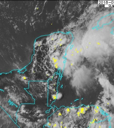 Seguirán las lluvias de fuertes a muy fuertes en la península de Yucatán por zona de inestabilidad frente a costas de QR
