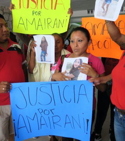 EXIGEN JUSTICIA POR MENOR ASESINADA EN CANCÚN: Se manifiestan familiares de la menor Amairani Poot en palacio municipal de BJ