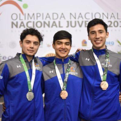 Quintana Roo obtiene tres medallas en esgrima en la Olimpiada Nacional
