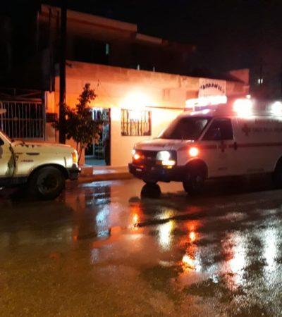 ¡ALCANZADA POR UN RAYO!: Ingresan al hospital a una mujer tras sufrir en la SM 221 una fuerte descarga eléctrica durante tormenta en Cancún